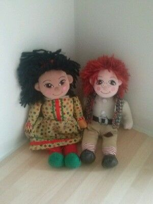 Rosie And Jim 10 Inch Bean Bag Dolls Vintage But Still In Excellent Condition