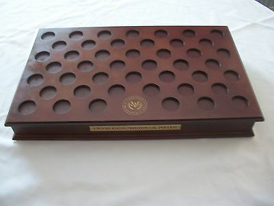 Cherry Wood Coin Display Case