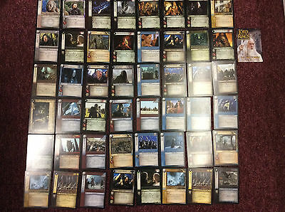 Lot 50 cartes Seigneur Anneaux Fellowship of the Ring LOTR Decipher collection
