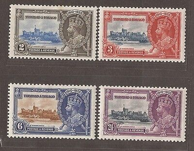 1935 Trinidad And Tobago Jubilee Stamp Set -  Mh