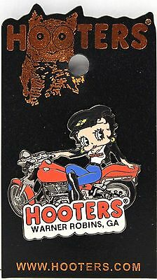New Hooters Betty Boop Girl On Motorcycle Bike Lapel Pin - Warner Robins, Ga