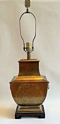 Vintage Frederick Cooper Style Brass Asian Chinoisserie Hollywood Regency Lamp