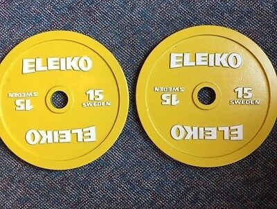 Eleiko PL Competition Disc - 15 kg, colored