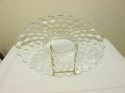 """Fostoria American 13-1/2"""" Oval Torte Plate with Center Oval Ring"""