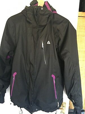 summit ladies black ski jacket XL (size 16)