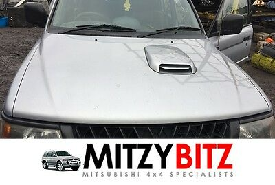 SILVER BONNET HOOD WITH AIR SCOOP for MITSUBISHI SHOGUN SPORT EQUIPPE / TROJAN