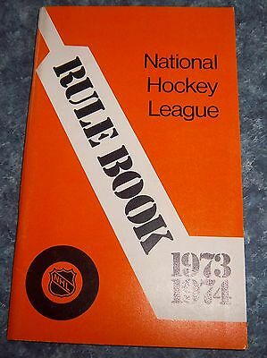 Official NHL Rule Book 1973-74 National Hockey League