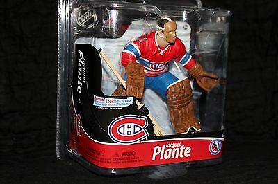 McFarlane Jacques Plante NHL Series 28 Rare Montreal Canadiens Legend Red Jersey