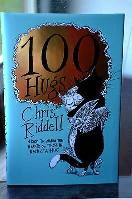 100 Hugs by Chris Riddell (Hardback, 2017) SIGNED 1st Edition