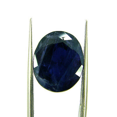 8.33 Ct Oval Natural Blue Iolite Loose Gemstone Untreated Stone - 116749