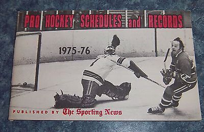 The Sporting News NHL Pro  Hockey schedules and Records 1975-76 Cournoyer