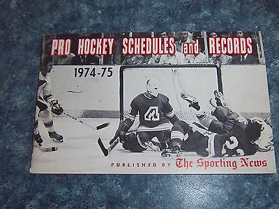 The Sporting News NHL Pro  Hockey schedules and Records 1974-75