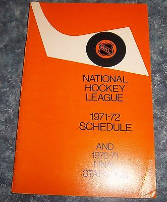 Official NHL Schedule 1971-72 and Final stats 1970-71 National Hockey League