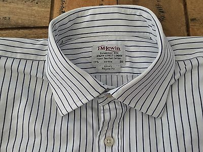 """T M Lewin Pure Cotton Luxury Shirt Size 17.%"""" (50"""" Chest) Excel Cond"""