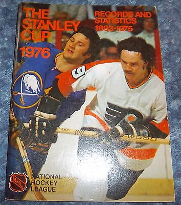 Official NHL The Stanley Cup Records 1976 and Statistics National Hockey League