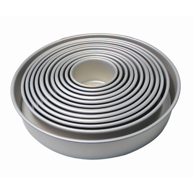 """PME Round Cake Pans - 3"""" Deep Professional Quality Baking Tins - 3"""" to 14"""""""