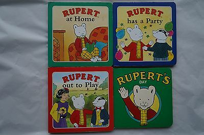 Set of 4 RUPERT Board Page Books - 1995 & 91 - Very Good Condition