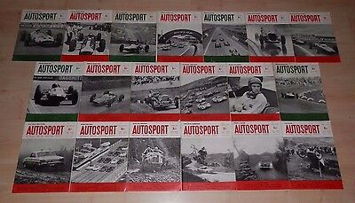 19 x AUTOSPORT magazines 1963-64 - Indy 500, Belgian GP, Le Mans, Ford Galaxie