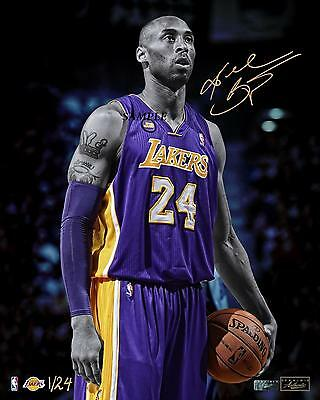 Kobe Bryant #1 Reprint Autographed Signed Picture Photo Los Angeles Lakers Rp
