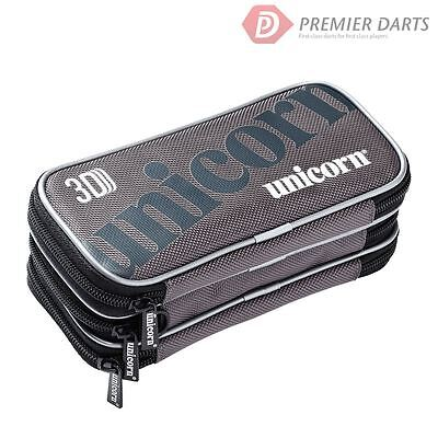 Unicorn 3D Darts Case Wallet - Large Padded Wallet with 3 Zipped Compartments