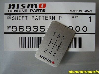 Nismo 5 Speed Shift Badge Nismo Gear Shift Pattern SKYLINE GTR R32 R33 SILVIA :)