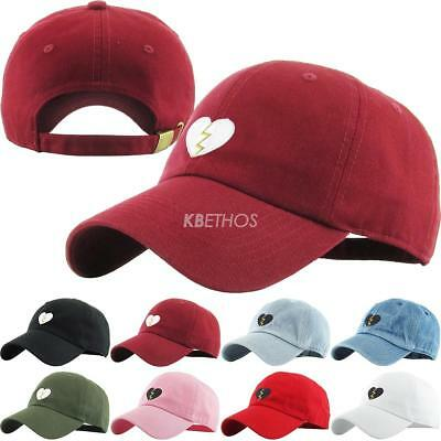 Broken Heart Dad Hat Baseball Cap Unconstructed - KBETHOS