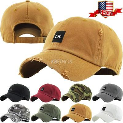 Lit Dad Hat Baseball Cap Unconstructed - KBETHOS