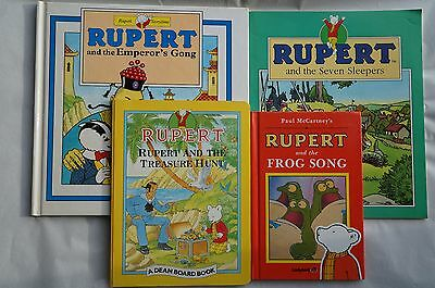 Set of 4 Different RUPERT Books - 1995 & 91 - Very Good Condition