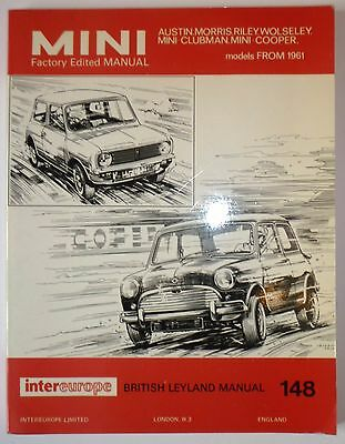 Mini Workshop Manual – 1961 To 1971