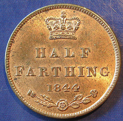 1844 Victoria tiny copper Half Farthing in a beautiful lustrous UNC