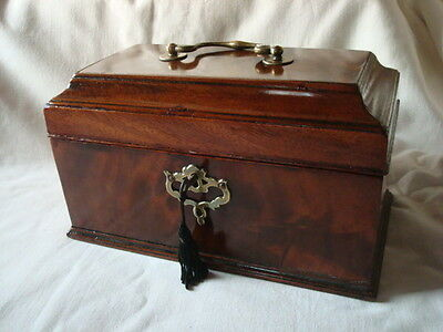 Antique early 19th century tea caddy