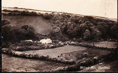 Milford Mill, Hartland, Devon - Posted In 1923 - Real Photographic Postcard -