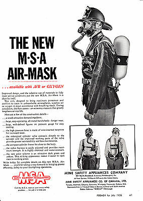 New Msa Air Mask  1956  Ad    6667