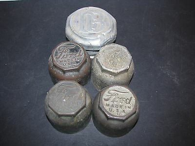 4 Old Automobile Car Hub Caps Vintage Ford  and Dodge Brothers
