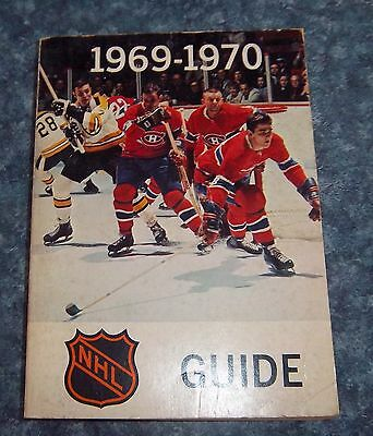 Official NHL  Guide 1969-70 Phil Esposito National hockey League