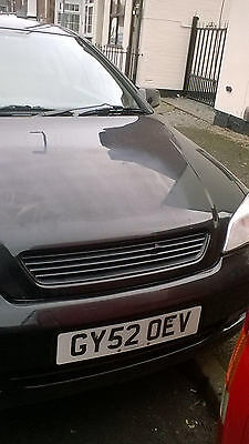 2002 VAUXHALL ASTRA LINEA ROSSA COUPE BLACK 12 months