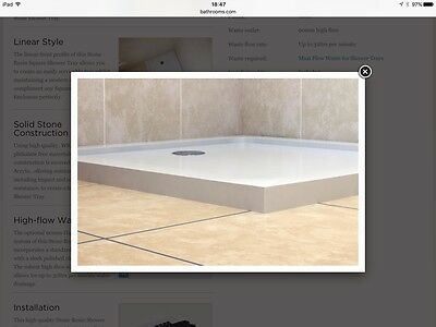 White Stone Resin Square Low Profile Shower Tray  900mm x 900mm