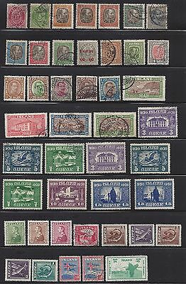 Iceland Nice Clean Large Stamp Collection, Mint and Used, Catalog Value $679.10
