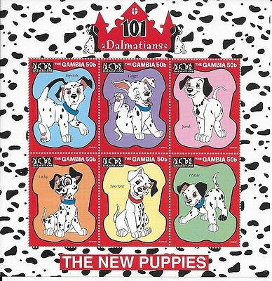 Gambia mini sheet - 101 Dalmations - the New Puppies