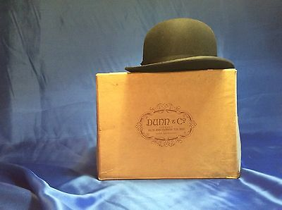 Original Vintage Bowler Hat Dunn & Co London And Box.