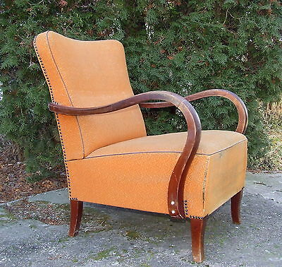 Art Deco Armchair. Club Chair For repair & upholstery. 1920s Vintage Antique