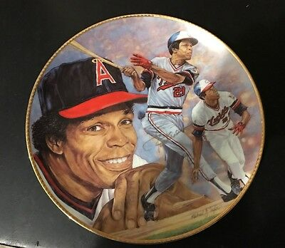 """1991 Rod Carew Autographed Signed Gartlan 10"""" Gold Plate Twins Angels 275/950"""