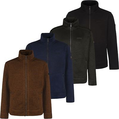 65% OFF RRP Regatta Braizer Funnel Neck Mens Full Zip Knit Jacket Fleece