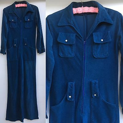 VTG Jumpsuit Green Blue (or Pajamas) Small (see measurements)