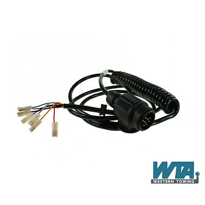 13 Pin12N Coiled Trailer Connection Lead 4m Ifor Williams trailer lights