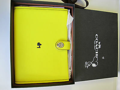New Coach Snoopy X Peanuts Leather Diary Planner Organizer 63175 with Gift Box
