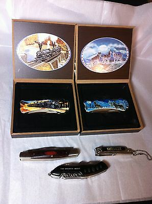 Lot of Five Collectible Pocket Knives- New to New Old Vintage- Nice Variety