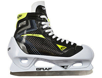 GRAF G9035 Senior Ice Hockey Goalie Skate Size 10.5 Wide, New In Box, Overstock