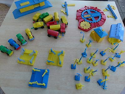 Large quantity of vintage plastic train set including track and accessories