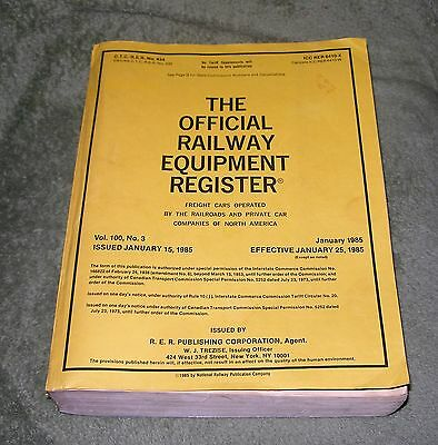 The Official Railway Equipment Register ~ Jamuary 1985 ~ Volume 100 No 3
